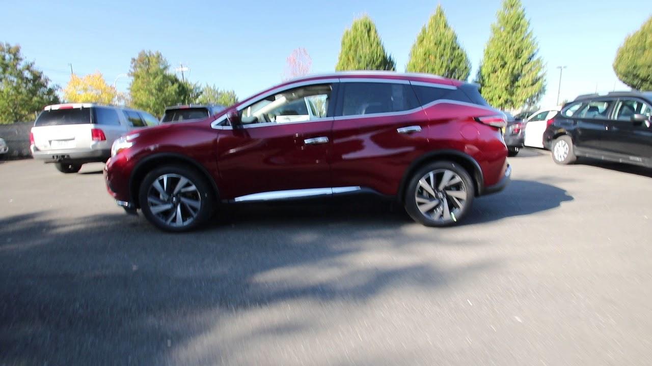 Nissan Murano 2017 Red >> 2017 Nissan Murano Platinum | Cayenne Red Metallic | HN188588 | Kent | Tacoma | - YouTube