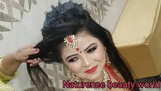 Easy crimping and twisting bridal bun hairstyle with gajra step by step tutorial in hindi