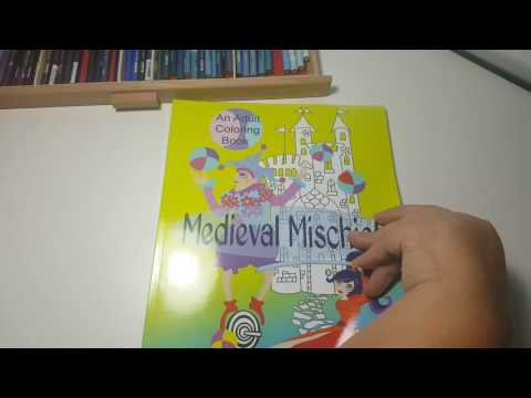 Medieval Mischief Coloring Book Review Flip Through