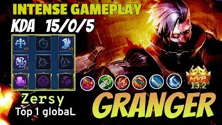 Granger point break Gameplay | Top 1 global | Zersy - Mobile Legends | Giveaway in Description