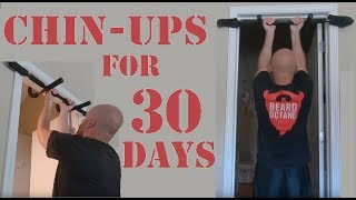30 DAYS OF CHIN UPS  - THE RESULTS ARE ASTONISHING!