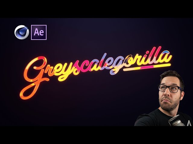 3D Glass Logo Animation in Cinema 4D + After Effects (No Plugins!) | Greyscalegorilla