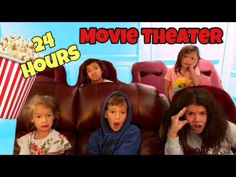24 HOURS OverNighT LOCKED INSIDE Movie Theater!!