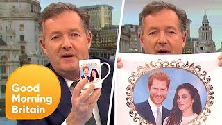 Piers Morgan Shows Off His Royal Engagement Merchandise! | Good Morning Britain