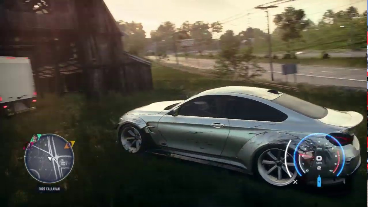 """Need for Speed Heat: Haunted barn """"easter egg"""""""