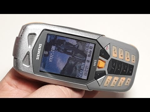 Siemens M65 — мобильный телефон фирмы Siemens 2004 года. Пыле влаго защищенный молодежный телефон