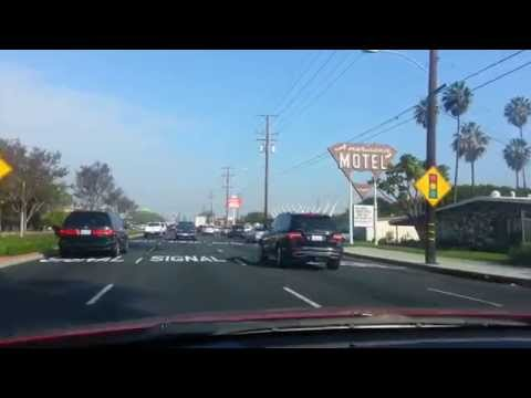 Driving by Anaheim,California