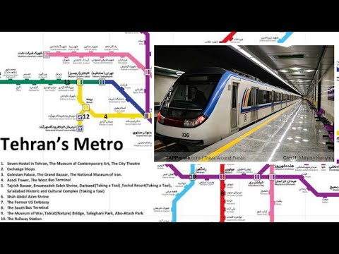Tehran underground metro 🚇 l Iran 🇮🇷 A modern transport System