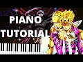 Modern Crusaders JoJo Piano Tutorial - jojo's bizarre adventure part 5 ending 2 piano sheet music
