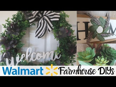 DIY FARMHOUSE DECOR | WALMART REPURPOSE HOME DECOR | FARMHOUSE STYLE HOME DECOR DIY