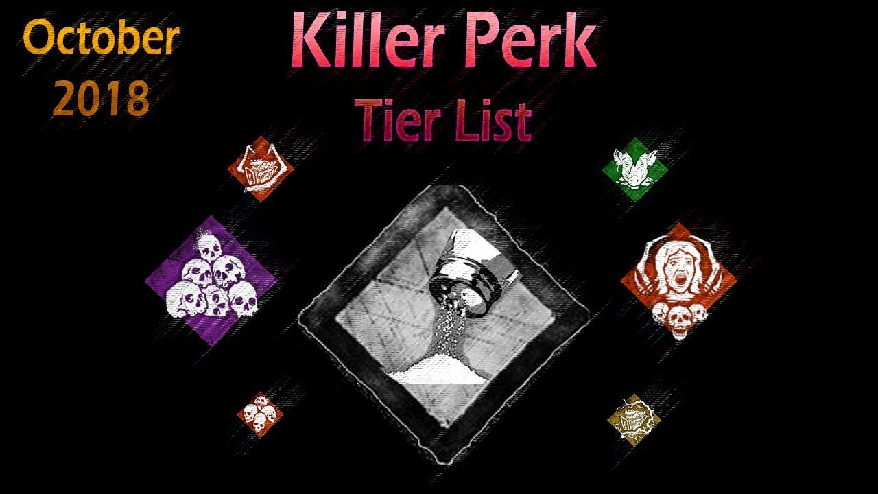 Dead by Daylight - Killer Perk Tier List (October 2018)