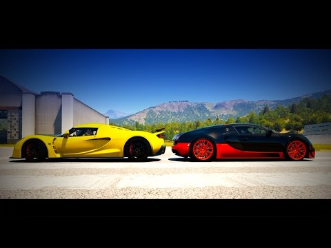 forza 5 drag race lamborghini veneno vs bugatti veyron. Black Bedroom Furniture Sets. Home Design Ideas