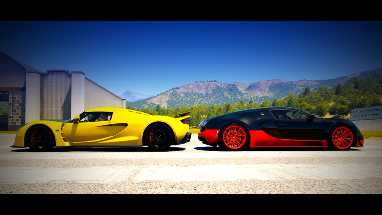 forza horizon 2 drag race bugatti veyron ss vs hennessey venom gt youtube. Black Bedroom Furniture Sets. Home Design Ideas