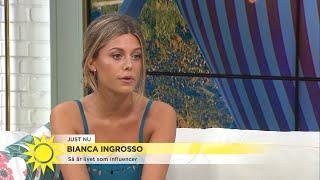 Bianca Ingrosso: Har haft bästa året i karriären - men det sämsta i privatlivet - Nyhetsmorgon (TV4)