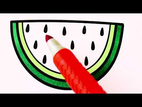Meyve, Sebze ve Emoji çizimi ve boyama