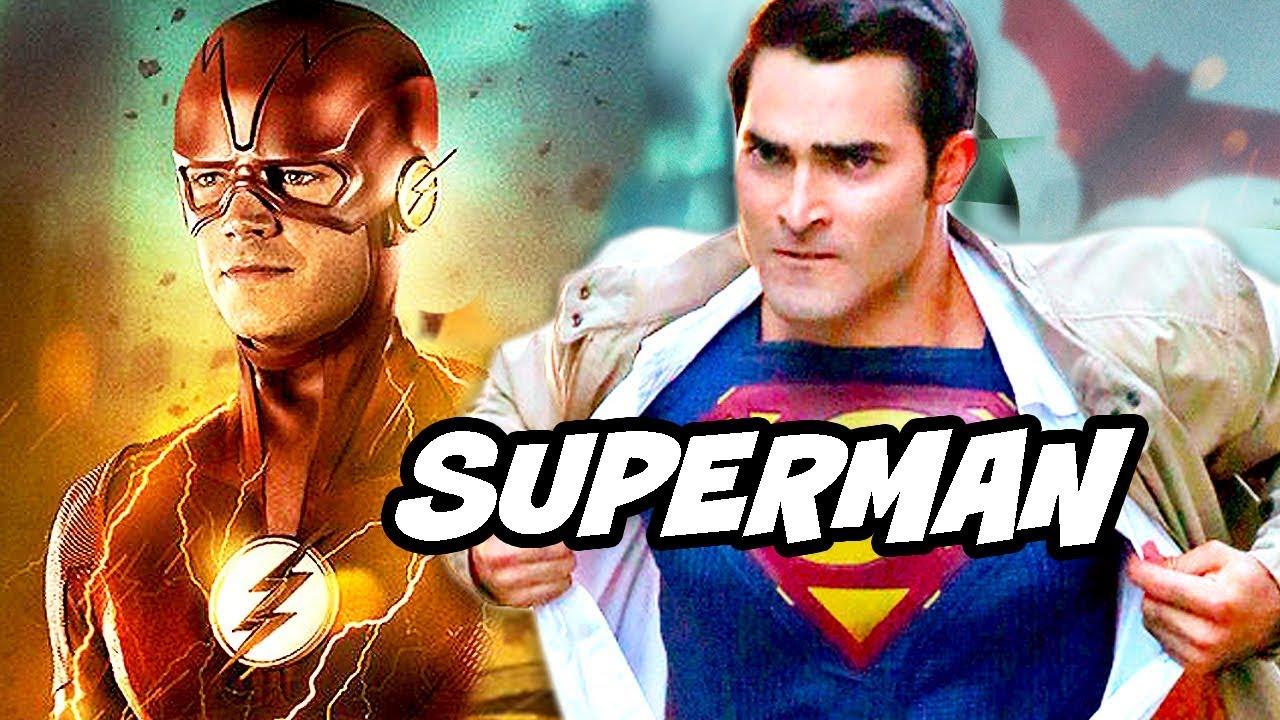 the flash season 5 superman justice league crossover plot teaser