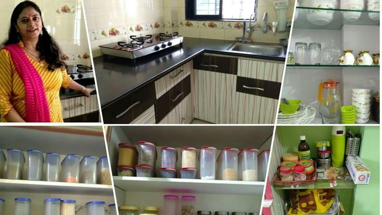 Non Modular Kitchen Tour Indian Kitchen Tour Kitchen Organization How To Organize Small Kitchen