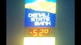 Driving in 52F below zero in Fairbanks Alaska in a dodge charger