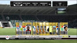 fifa 12 ultimate team large pack opening with a surprise