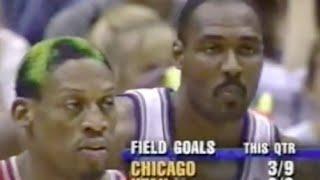 Dennis Rodman shuts down Karl Malone - 1998 Finals Game 2