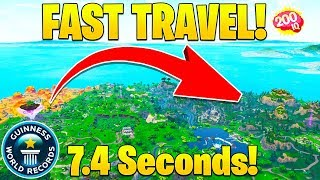 *WORLD RECORD* Fastest Way To Travel in Fortnite! (Across The Map in Seconds!)