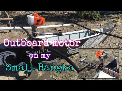 2hp OUTBOARD MOTOR  on my Small BANGKA. (Please SUBSCRIBE) (