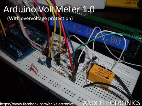 Arduino VoltMeter ( With overvoltage protection ) | ANIX