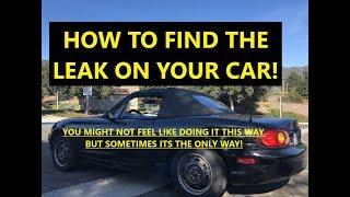 how to find the leak on your car Leaking oil ?