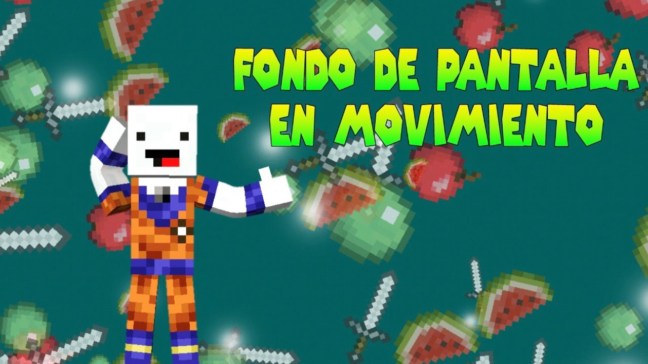 Increible fondo de pantalla con movimiento de minecraft for Imagenes 3d en movimiento para android