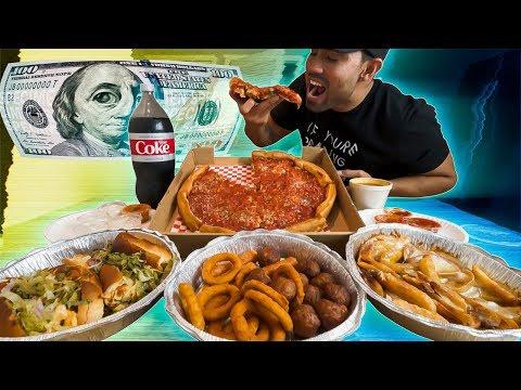 $100 Chicago Deep Dish Pizza Challenge 🍕