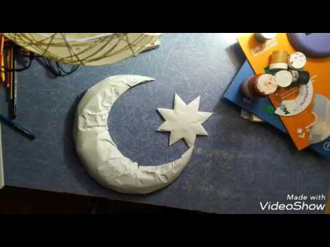 DIY: How to make MOON and STAR with CD's (Draft Wall Decor)