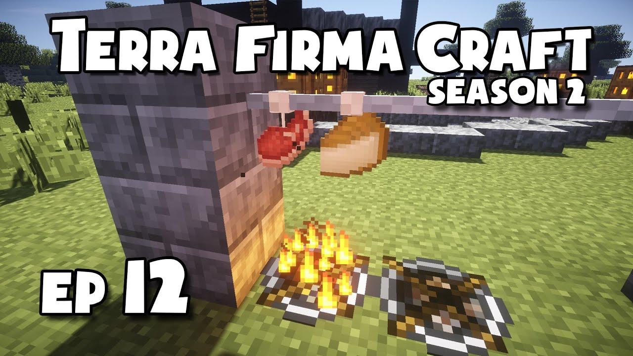 TerraFirmaCraft - S2 #12 - Smoking, Pickling + Making Cheese by Spud Gunn