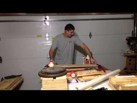 Gluing plywood, making jerk blocks part 1
