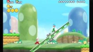New super mario bros wii 100% partie 1