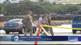 Search-and-rescue operation suspended for missing soldiers in Black Hawk crash