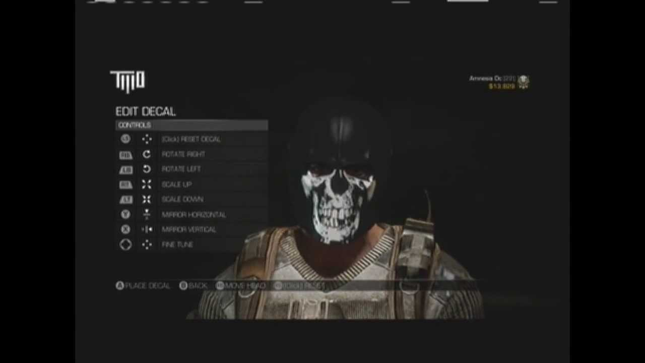 Body count patch cod ghosts mask