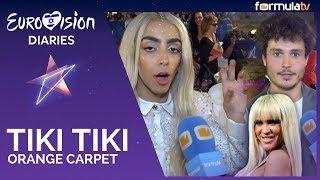 Tiki tiki en Eurovisión 2019: Los representantes imitan a Ylenia en la alfombra naranja