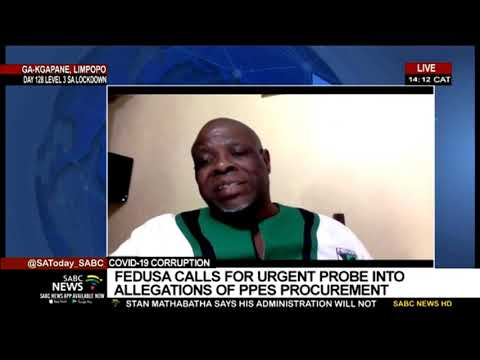 FEDUSA calls on government to probe allegations of corruption on procurement of PPEs