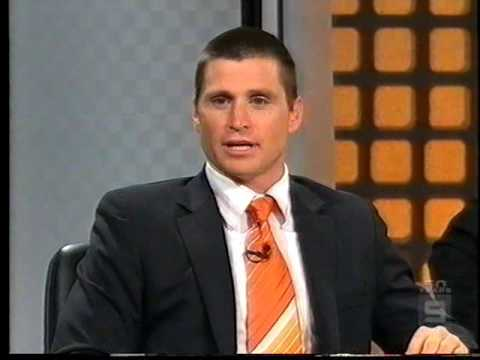 AFL Footy Show   Aftermath of Shane attacking Sam with Fire Extinguisher Round 21 2006