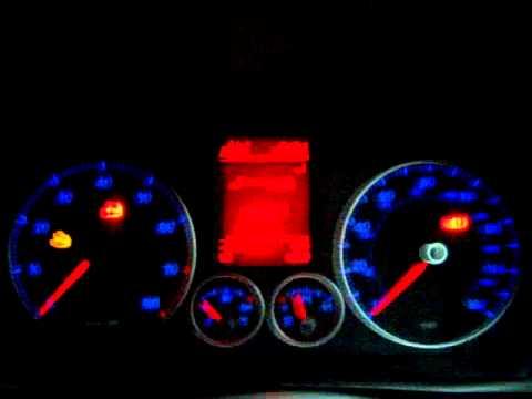 VW Golf Mk5 cluster test MOV