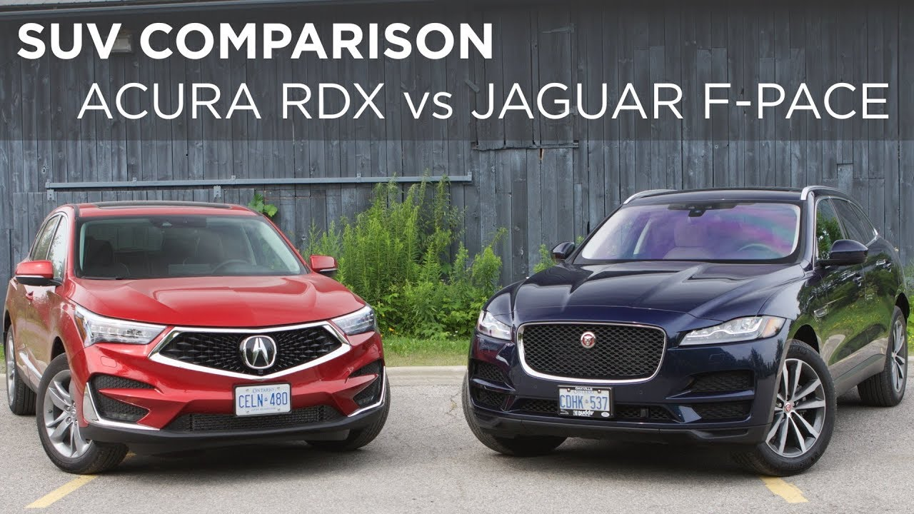 Suv Comparison 2019 Acura Rdx Vs 2018 Jaguar F Pace Driving Ca