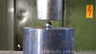 Trying to crush the mighty bearing ball with hydraulic press thumbnail