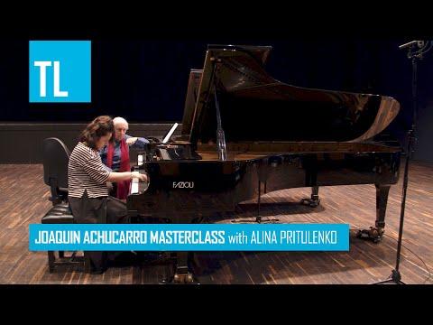 Joaquín Achúcarro Masterclass with Alina Pritulenko playing Albéniz - El Albaicín (Iberia).