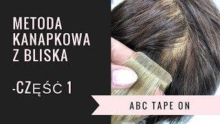 metoda kanapkowa tape on PODSTAWOWE informacje-przedłużania włosòw kanapki