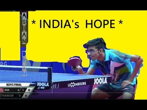 World Junior Final Jha(USA)- Thakkar(INDIA's rising Table Tennis player)
