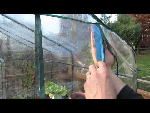 How to Repair Garden Greenhouse Zipper Seam Tears with Duct Tape - The Rusted Garden 2013
