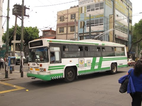 MEXICO CITY RUSH HOURS 24 7 TROLLEYS AND BUSES APRIL 2015
