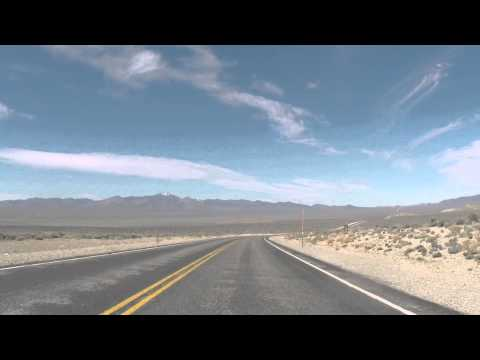 Driving on 375 Extraterrestrial Hwy Area 51 Nevada DustDevil Footage