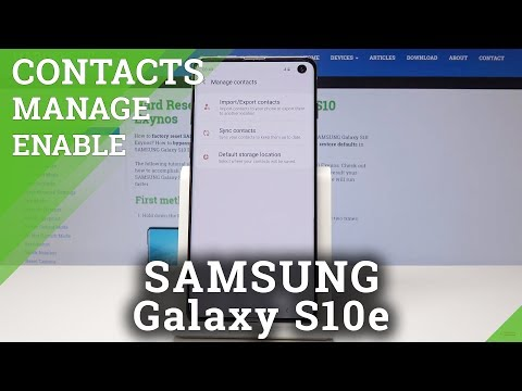 SAMSUNG Galaxy S10 Import / Export Contacts /  Manage Contacts Tutorial