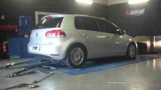 VW Golf 6 tdi 110cv Reprogrammation Moteur @ 178cv Digiservices Paris 77 Dyno